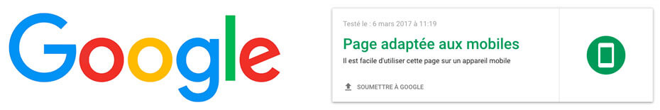 Page adapté au mobile - Resposnive webdesign